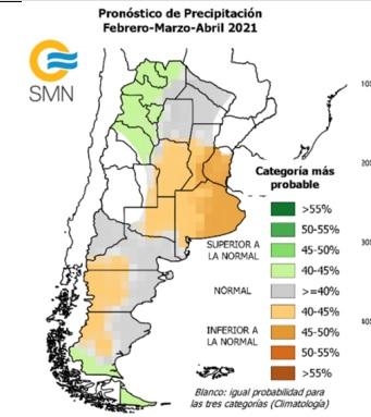 INFORME INA. Pronostican escasas lluvias durante esta semana