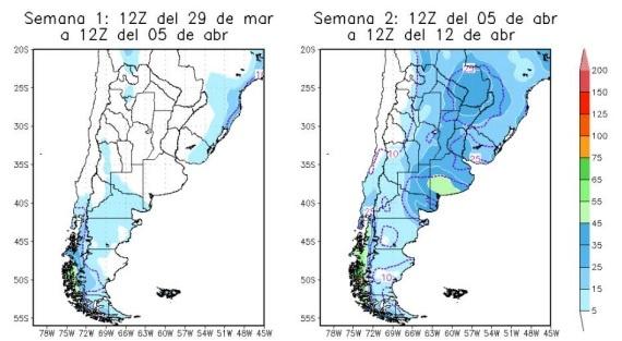 INFORME ESPECIAL. Pronostico de precipitaciones del Servicio Meteorológico
