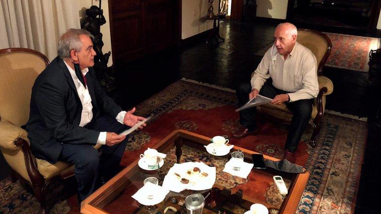 """Lavagna se reunió con un integrante de la Mesa de Enlace: consideró """"delicada"""" la situación económica"""