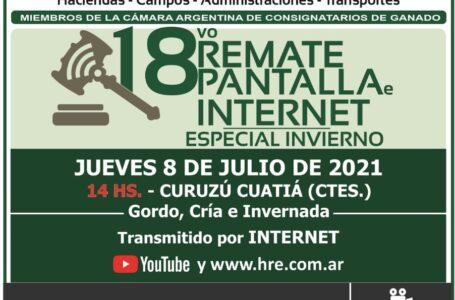 EN VIVO: 18° Remate HRE  Pantalla e Internet